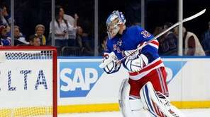 Antti Raanta #32 of the New York