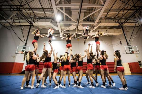 The Sachem East High School Varsity Cheerleaders