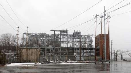 A substation across from the site of a