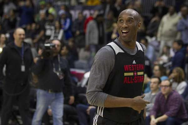 The Western Conference's Kobe Bryant takes part in