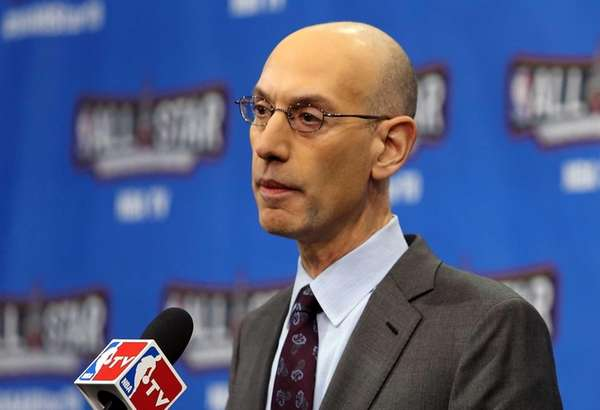 NBA Commissioner Adam Silver speaks during a press