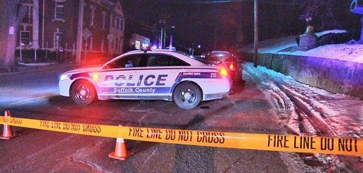 Suffolk County police on scene where a