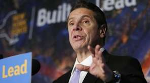 New York Gov. Andrew Cuomo speaks during a