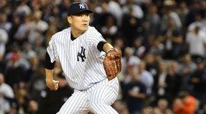 Yankees starting pitcher Masahiro Tanaka made it through