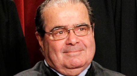 Supreme Court Justice Antonin Scalia is seen