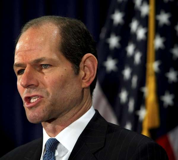 New York Gov. Eliot Spitzer addressed the media