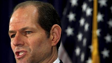 New York Gov. Eliot Spitzer addressed the media