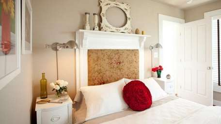 An old fireplace mantel can be pressed into