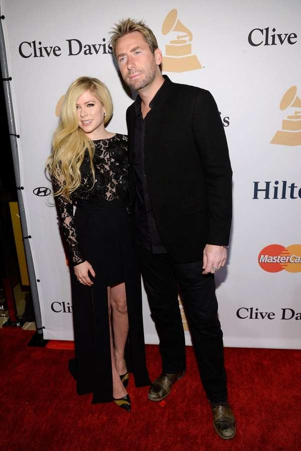 Avril Lavigne and ex-husband Chad Kroeger attend Clive
