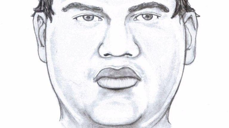 An artist's sketch of a burglar described as