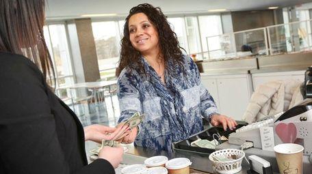 Vannessa Adamidis, who runs the cafe at the