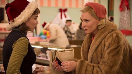 Rooney Mara, left, and Cate Blanchett in