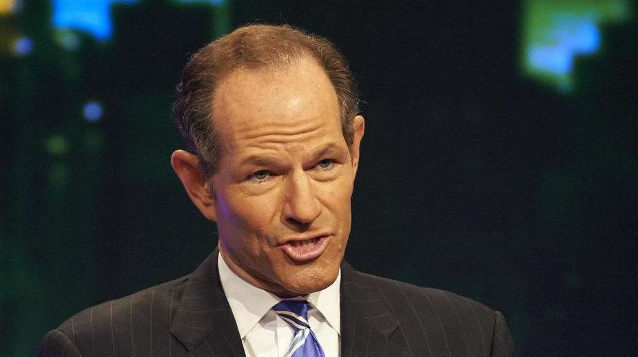 Former New York Governor Eliot Spitzer participates in