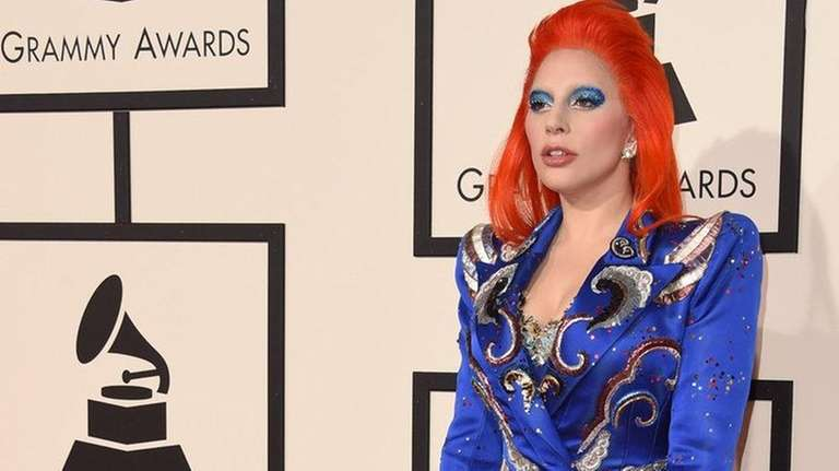 Singer Lady Gaga arrives for the 58th Annual