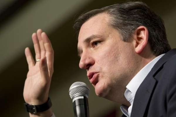 Republican presidential candidate Ted Cruz speaks at a