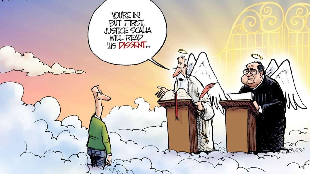 Cartoons Mourning After Supreme Court Antonin Scalia S