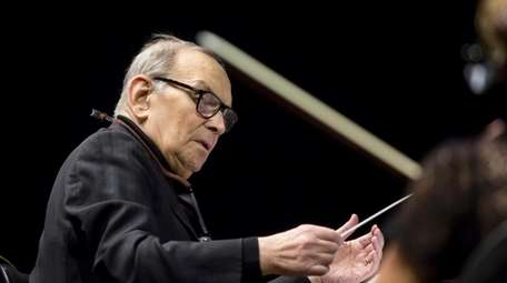 Italian composer Ennio Morricone, shown with the Czech
