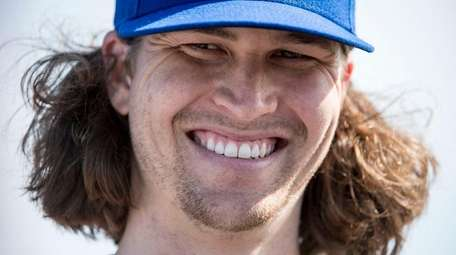 NY Mets pitcher Jacob deGrom during a