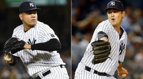 Dellin Betances, left, and Andrew Miller still