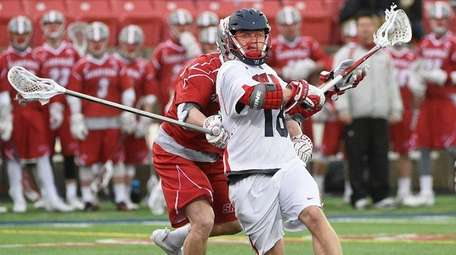 Stony Brook attacker Brody Eastwood winds up his