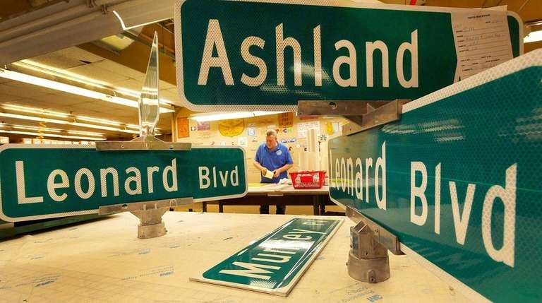 Town of North Hempstead traffic signs shop supervisor