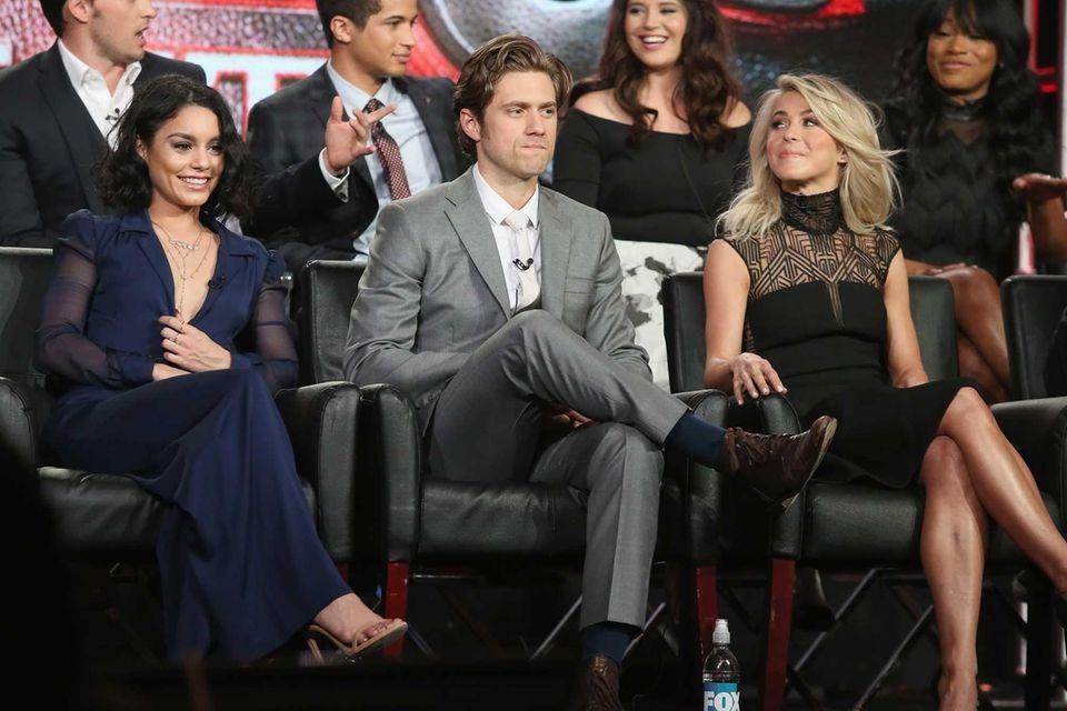 Actors Vanessa Hudgens, Aaron Tveit and Julianne Hough