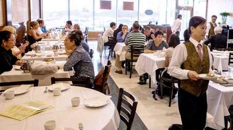 The lunchtime crowd digs in at Orient Odyssey