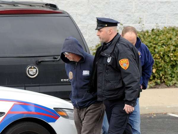 Suffolk County police arrested a man after a