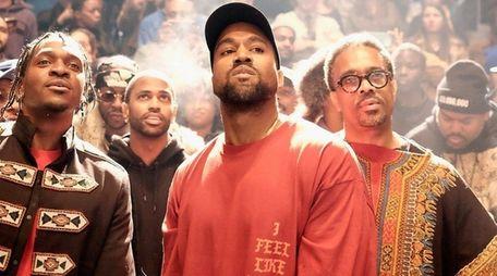 Kanye West debuts his new album,