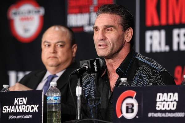 Ken Shamrock at a press conference for Bellator