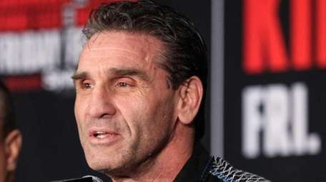 Ken Shamrock at a press conference for Bellator