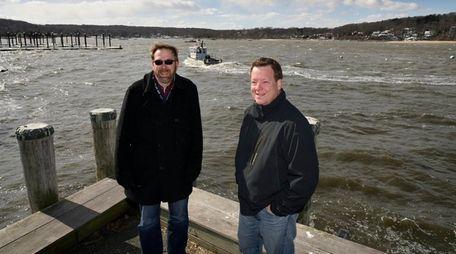Rusty Schmidt, left, and Rob Crafa on Saturday,