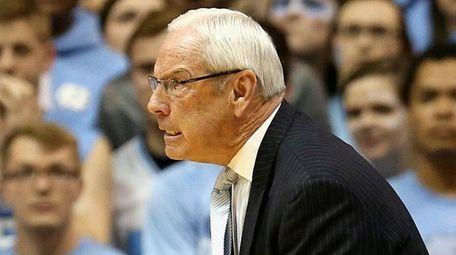 North Carolina head coach Roy Williams reacts