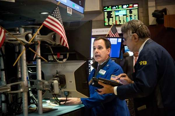 Stocks ended a three-day rally Thursday, Feb. 18,