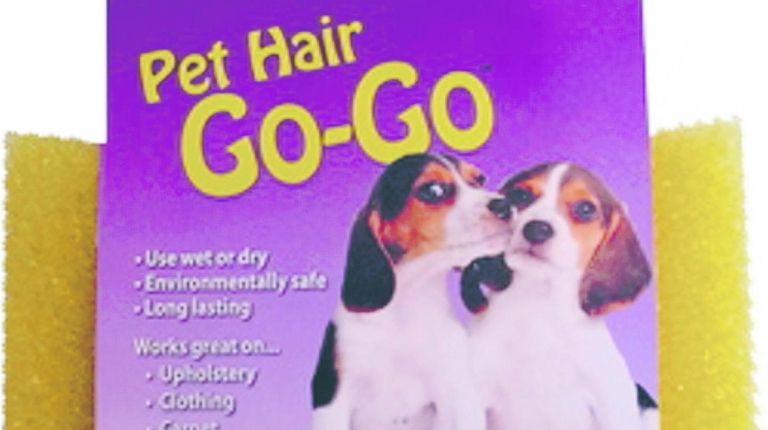 Pet Hair Go-Go is a reusable sponge that