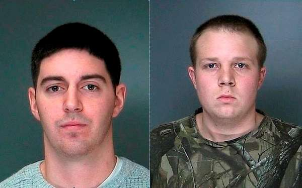 Matthew D. Rooney, left, 24, of Memorial Boulevard,