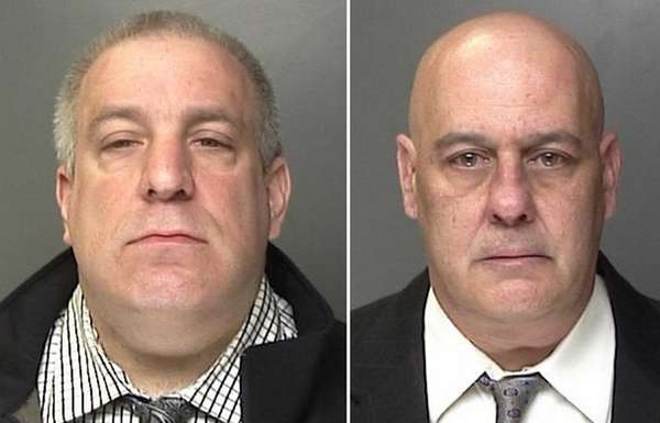 Mark Nicol, 46, of Ronkonkoma, left, is charged