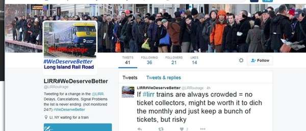 LIRR riders are using the Twitter hashtag #WeDeserveBetter
