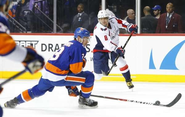 Alex Ovechkin of the Washington Capitals shoots the