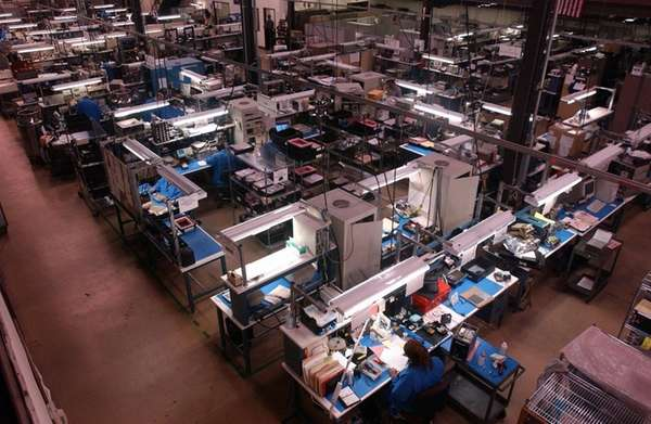 A view of the manufacturing plant at Comtech