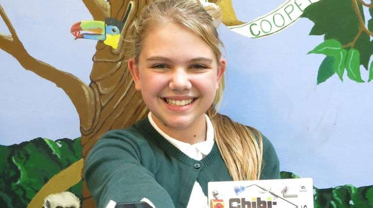 Kidsday reporter Madison Beehner with the Chibo-Robo 3DS