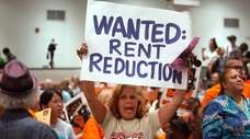 Tenants demonstrate during New York City's rent guidelines