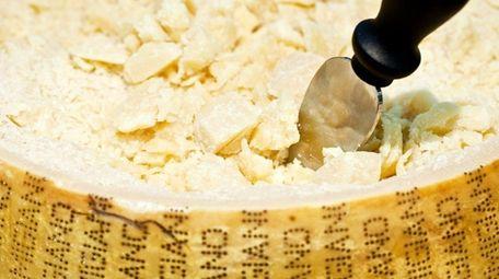 Italian Parmesan has the words