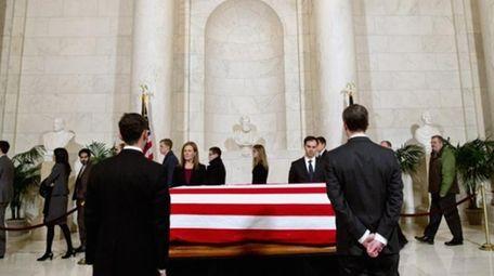 Supreme Court staff attend a private visitation in