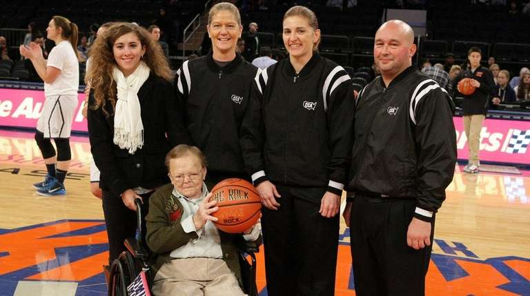 Ann Adamchik, who refereed the first women's basketball