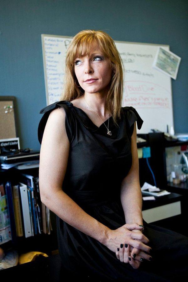 Karin Murphy Caro in her Hauppauge office on