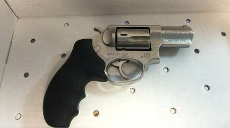 This .357 revolver was recovered from the front