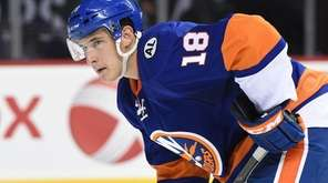 New York Islanders center Ryan Strome sets during