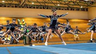 Rocky Point performs during the Suffolk cheerleading championships,