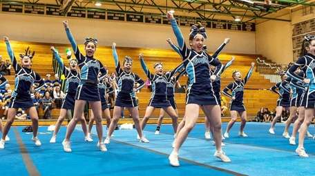 Rocky Point performs at the Suffolk Cheerleading Championships
